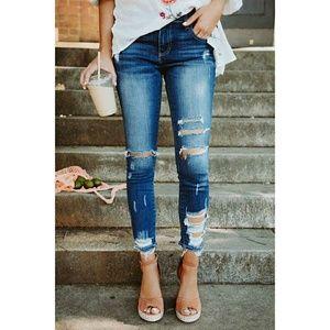 ultrachicfashion.com Jeans - ⬇ Plus Size Distressed Jeans